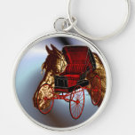 Kentucky Bluegrass Horse and Buggy Keychains