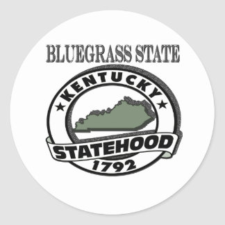 Kentucky Bluegrass Statehood Classic Round Sticker