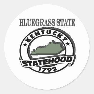 Kentucky Bluegrass Statehood Stickers