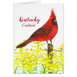 Kentucky Cardinal State Bird Blank Card