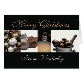 Kentucky Christmas Card with ornaments