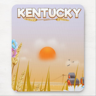 Kentucky Cute Farm travel poster Mouse Mat