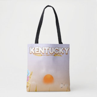 Kentucky Cute Farm travel poster Tote Bag