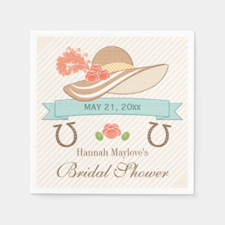 Kentucky Derby Bridal Shower Disposable Napkin