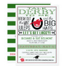 Kentucky Derby Horse Racing Party Blk/Red/Dk Kelly Card