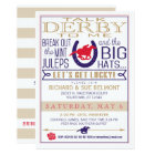 Kentucky Derby Horse Racing Party Blue/Red/Gold Card