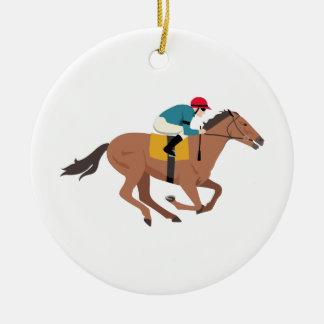 Kentucky Derby Horse Rider Christmas Ornament