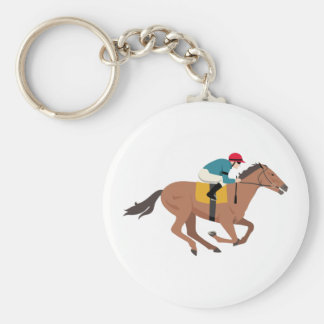 Kentucky Derby Horse Rider Key Ring