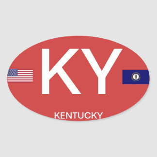 Kentucky* Euro-style Oval Sticker