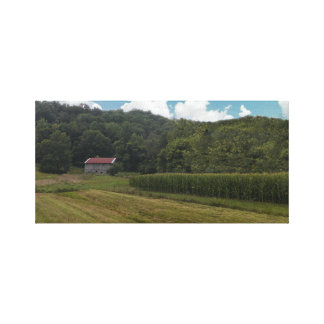 Kentucky Farm Stretched Canvas Prints