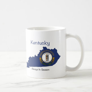 Kentucky Flag and Map Coffee Mug