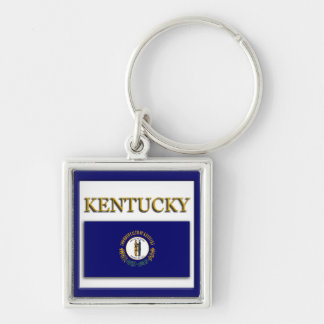 Kentucky Flag Design Premium Keychain