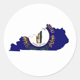 Kentucky Flag Map Classic Round Sticker