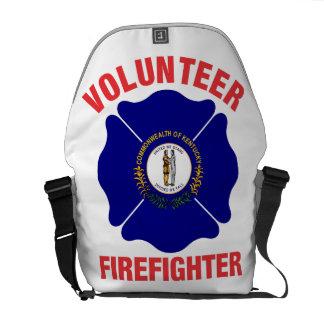 Kentucky Flag Volunteer Firefighter Cross Messenger Bag