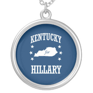 KENTUCKY FOR HILLARY ROUND PENDANT NECKLACE