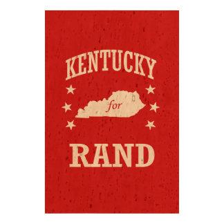 KENTUCKY FOR RAND PAUL CORK PAPER PRINT