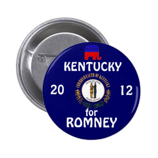 Kentucky for Romney 2012 6 Cm Round Badge