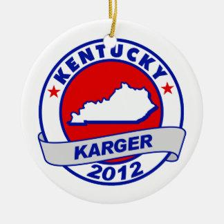 Kentucky Fred Karger Christmas Ornaments