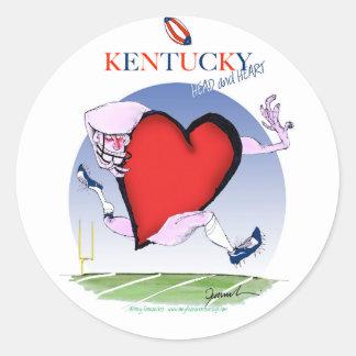 kentucky head heart, tony fernandes round sticker