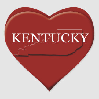 Kentucky Heart Map Design Sticker