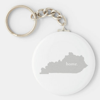 Kentucky home silhouette state map key ring