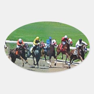 Kentucky Horse Racing Oval Sticker
