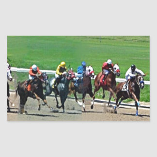 Kentucky Horse Racing Rectangular Sticker
