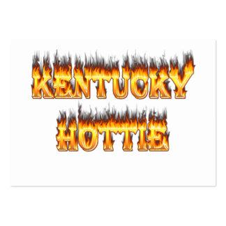 Kentucky hottie fire and flames business cards