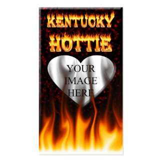Kentucky Hottie fire and red marble heart. Pack Of Standard Business Cards