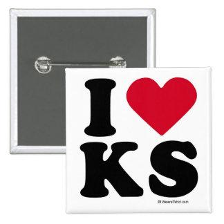 KENTUCKY - I LOVE KS - I LOVE KANSAS 15 CM SQUARE BADGE
