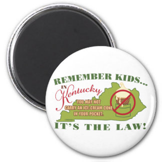 Kentucky Ice Cream Law Magnet