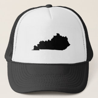 Kentucky in Black and White Trucker Hat