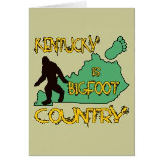 Kentucky Is Bigfoot Country Card