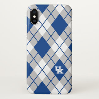 Kentucky | Kentucky Argyle Pattern iPhone X Case