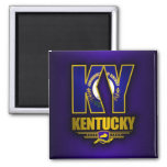 Kentucky (KY) Square Magnet