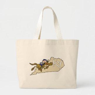 Kentucky KY State Map & Kentucky Derby Race Horse Canvas Bag