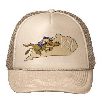 Kentucky KY State Map & Kentucky Derby Race Horse Mesh Hats