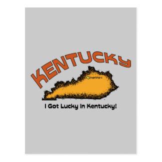 Kentucky KY US Motto ~ I Got Lucky In Kentucky Post Card
