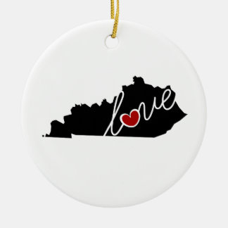 Kentucky Love!  Gifts for KY Lovers Christmas Ornament
