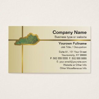 Kentucky Map Business Card