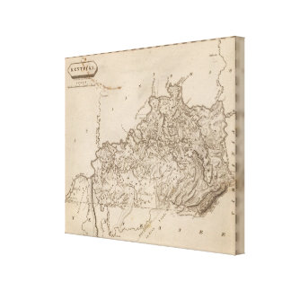 Kentucky Map by Arrowsmith Stretched Canvas Prints