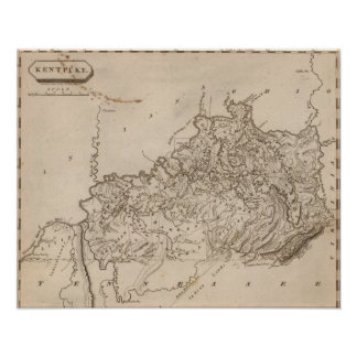 Kentucky Map by Arrowsmith Print