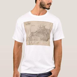 Kentucky Map by Arrowsmith T-Shirt