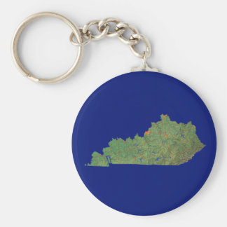 Kentucky Map Keychain