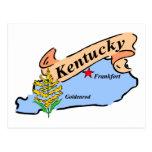 kentucky Map Post Card