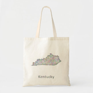 Kentucky map tote bag