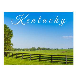 Kentucky Postcard. Countryside landscape. Postcard