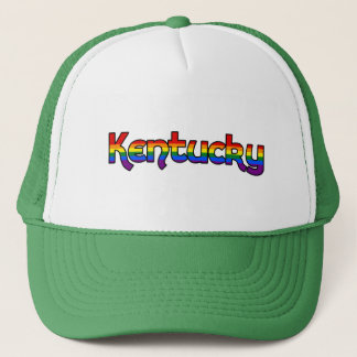 Kentucky Rainbow text Hat