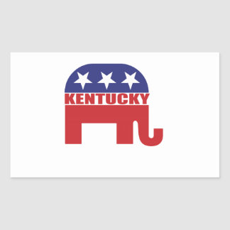 Kentucky Republican Elephant Rectangular Sticker