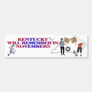 Kentucky - Return Congress To The People!! Bumper Sticker